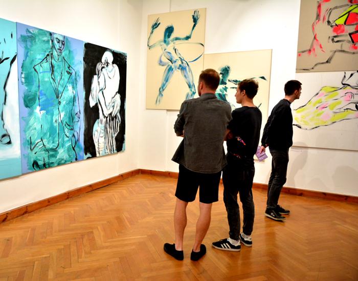 XY Wiekszy niz o sobie mysli 190-120 cm malarstwo sztuka obrazy wrocław Galeria M Odwach wystawa