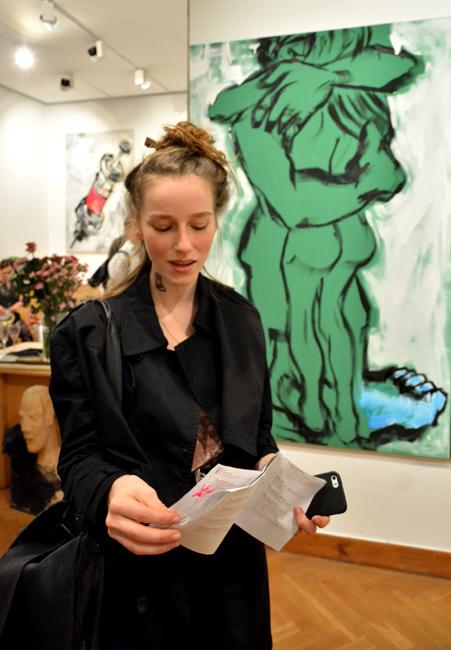 XY ankamierzejewska malarstwo wernisaz Galeria M Odwach z Nina malarstwo sztuka obrazy art fine art