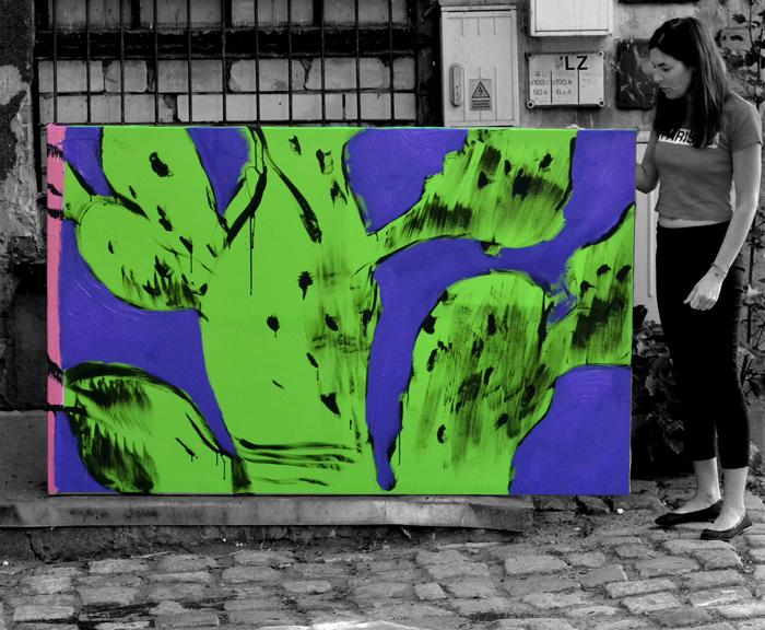 XY cactus 120-190 cm anka mierzejewska malarstwo sztuka obrazy art contemporaryart fineart