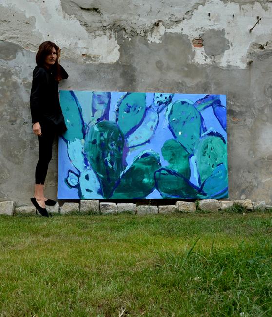 XY przyjdz do mnie pooddychac razem w upale 120-190 cm anka mierzejewska Galeria M Odwach malarstwo sztuka art obrazy