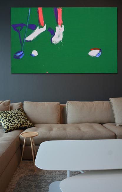 XY golf 120-190 cm ankamierzejewska painting fineart gallery contemporaryart obrazy sztuka malarstwo
