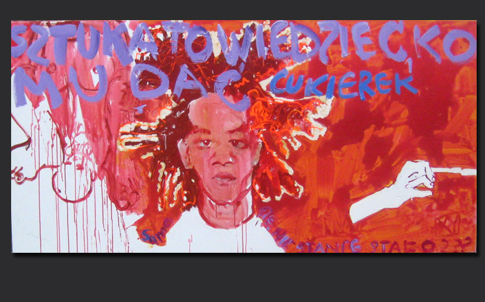XY Basquiat  200-100 ankamierzejewska malarstwo sztuka fineart artcontemporain obrazy painting