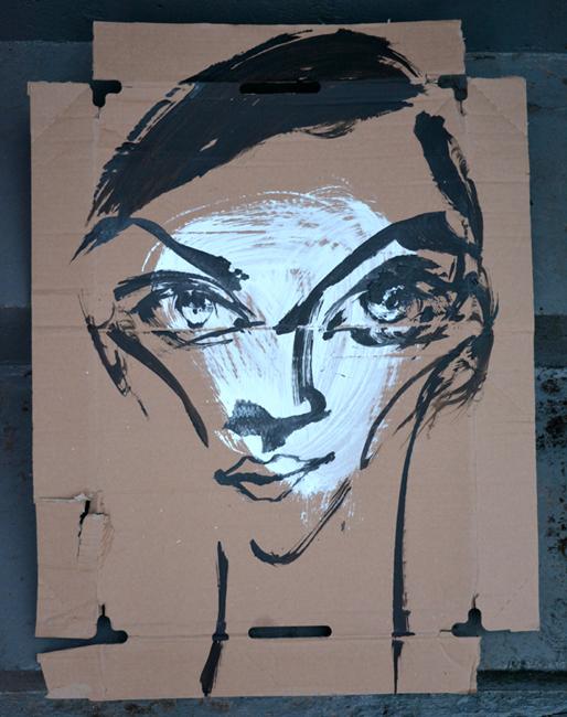 XY water eyes acrylic on cardboard 72- 53 cm ankamierzejewska painting fineart