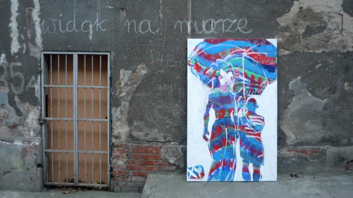 XY widok na murze z Picasso 200-120  ankamierzejewska fineart painting