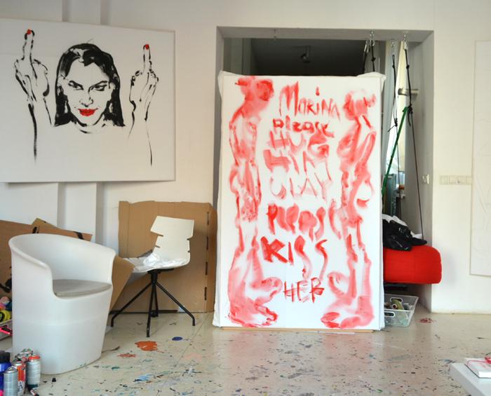 XY Abramovic Ulay hug kiss 190-120 cm #mierzejewska #fineart #artcontemporain #paintings #contemporaryart