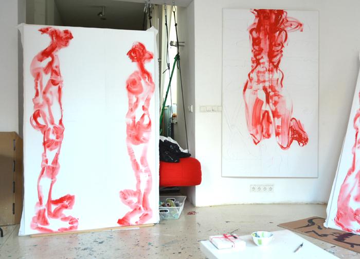 XY painting Marina and Ulay Imponderabilia 190-120 cm #painting #MarinaAbramovic and Ulay #Imponderabilia 190-120 cm #malarstwo #sztuka #fineart #artcontemporain #contemporaryart #painting