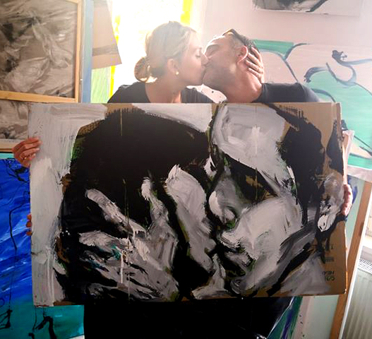 #xy #ankamierzejewska #contemporarypainting #artcontemporain #kunst #kiss #painting