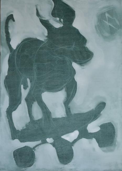 #xy #xyankamierzejewska #skate #dog #freestyle #skateboarding #contemporaryart #art #paintings #kusnt #artcontemporain