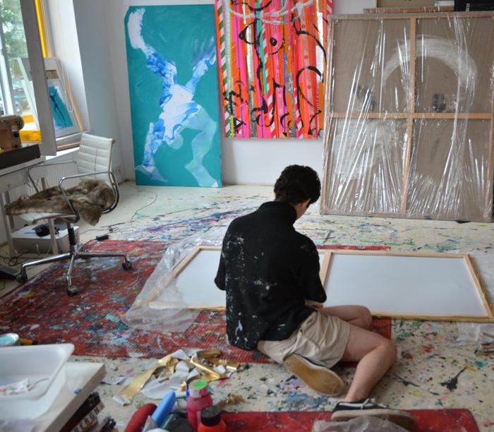 #xy #anka #mierzejewska #malarstwo #sztuka #obrazy #wystawa #pracownia #contemporary #art #gemalde #kunstlerin #wroclaw #polen #acrobat #azure #turquise #studio #artist