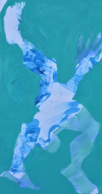 #acrobat #akrobata #azure #lazurowy #turkusowy #xy #anka #mierzejewska #art #contemporary #contemporain #malarstwo #paintings