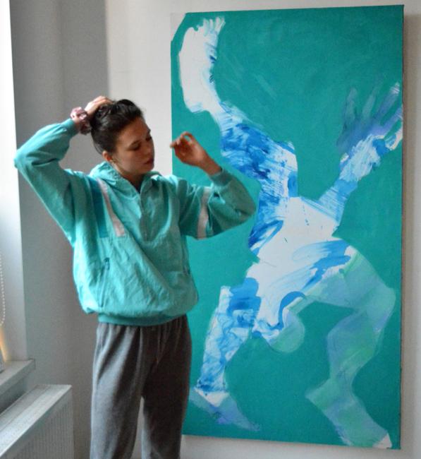 #xy #anka #mierzejewska #contemporary #artist #atelier #studio #azure #acrobat #akrobata #lazurowy #paintings #obrazy #malarstwo #sztuka #wroclaw #poland