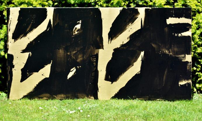 XY ankamierzejewska LOVE 100-200 cm CIALO MYSLI acrylic on canvas