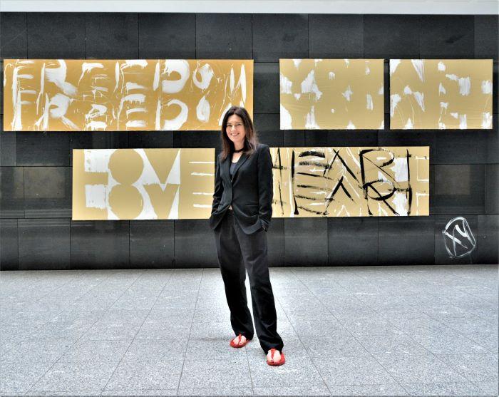 XY body of thought gold goldenpaintings anka mierzejewska gemalde paintings kunst kunsterin artist contemporary art paintings