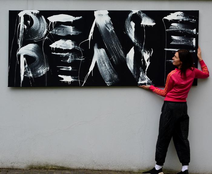 XY anka mierzejewska contemporary artist gemalde peace kunst kunstler kunstlerin art painting