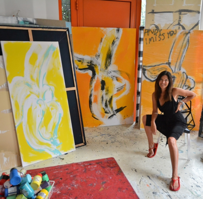 XY malarstwo sztuka obrazy banany banan żółty yellow kunst gemalde kunstler Wroclaw pracoania
