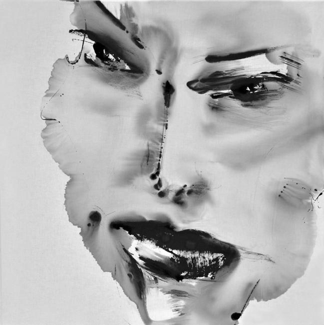 XY anka mierzejewska malarstwo sztuka wspolczesna kuntlerin wroclaw black and white berlin kunst contemporary painting