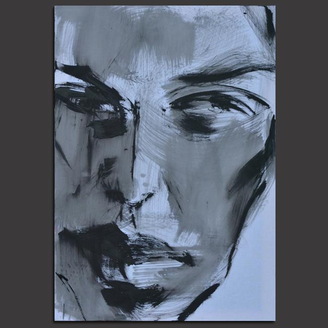 XY anka mierzejewska portret sztuka wspolczesna malarstwo obrazy portrety czarno biale contemporary fine arts contemporaryfinearts artcollection artcollector
