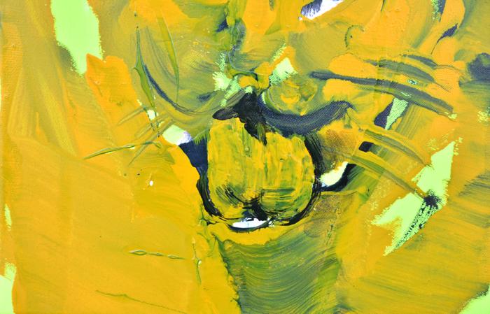 XY anka mierzejewska one eye cat yellow painting contemporary fine arts kunt artclub artcollectors houses at home sztuka wspolczesna warsawgalleryweekend