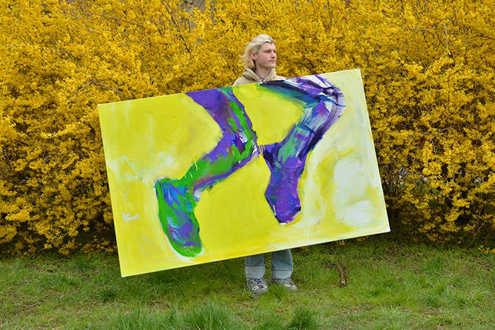 XY anka mierzejewska wiosna nogi obraz obrazy sztuka wspolczesna malarstwo paintings contemporaryfinearts livig with art artist studio visit wroclaw kunst kunstler expressionism