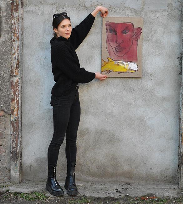 xy anka mierzejewska malarstwo sztuka wspoczesna artist studio painting portrait kunst