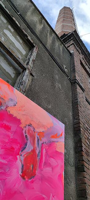 XY anka mierzejewska malarstwo sztuka obrazy contemporary finearts kunst kuntler pink rozowy obraz