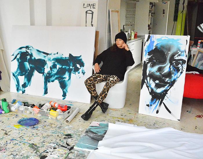 xy anka mierzejewska malarstwo sztuka wspolczesna obrazy contemporary finearts kunst kusntler studio ateleier wroclaw poland gepard cat panter