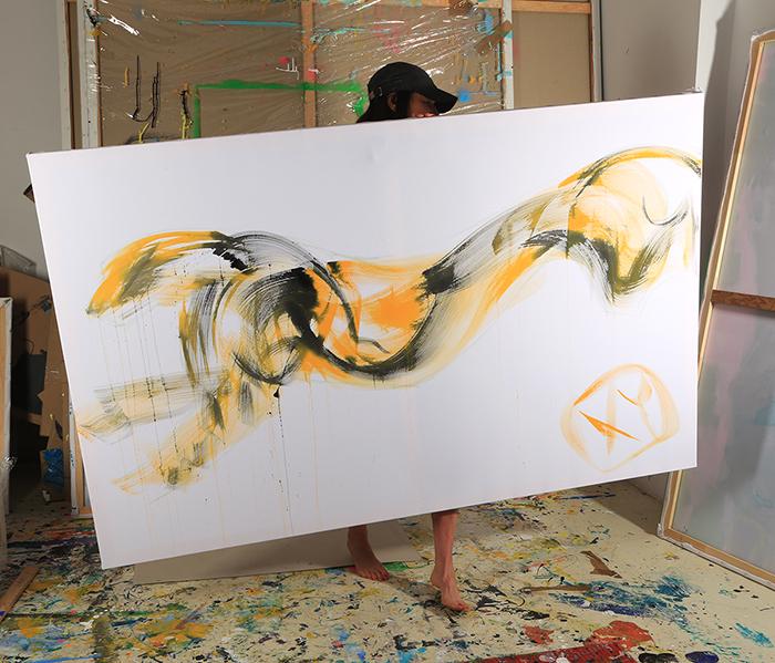 XY cat cheetah 120-190 cm malarstwo sztuka wspolczesna contemporary fine arts art artist studio pracownia wroclaw