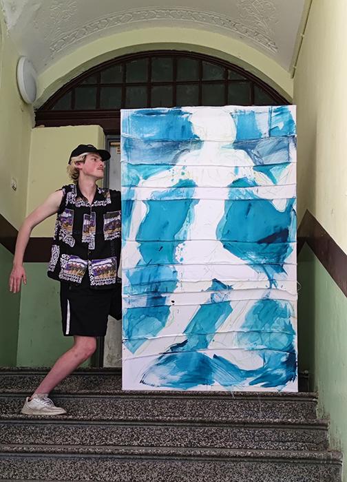xy anka mierzejewska malarstwo sztuka wspolczesnachlopiec i am just ready to be me  obrazy contemporary fine arts kunst kunstlerin breslau wroclaw breslavia builde