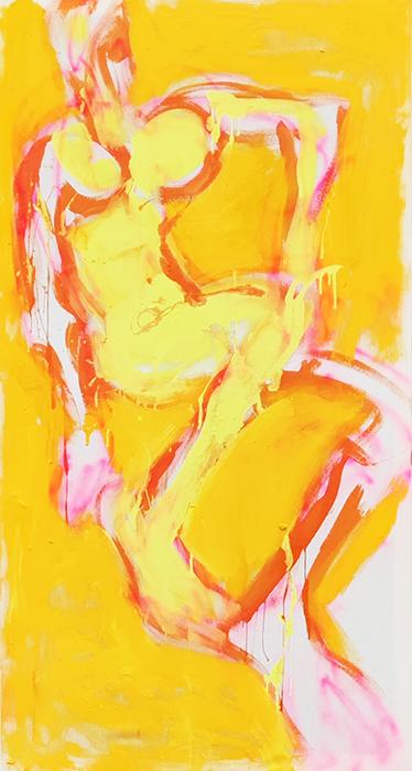 XY anka mierzejewska malarstwo sztuka obrazy contemporary fine arts paintings bilde kunst breslau beslavia wroclaw zolty obraz akt dziewczyna