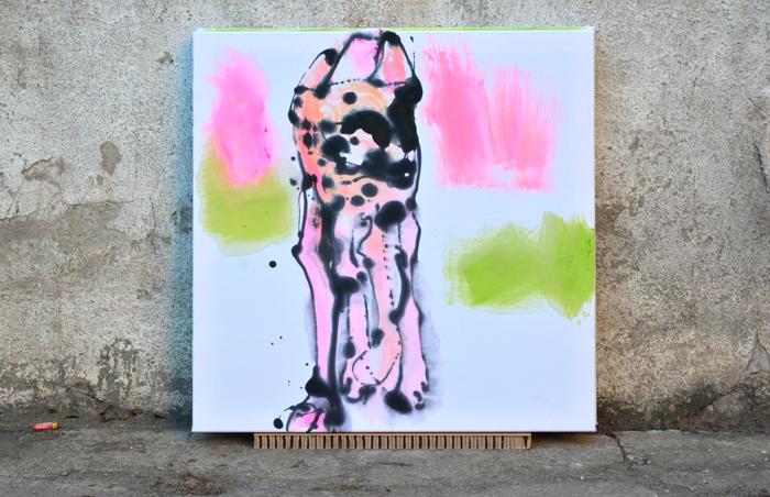 xy anka mierzejewska artweek theartsclub artsy artnet artwold wdzieczna cheetah cat kot gepard malarstwo sztuka wspolczesna obrazy